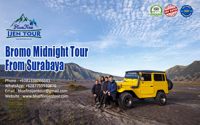 Bromo midnight tour from surabaya, Bromo midnight tour price surabaya