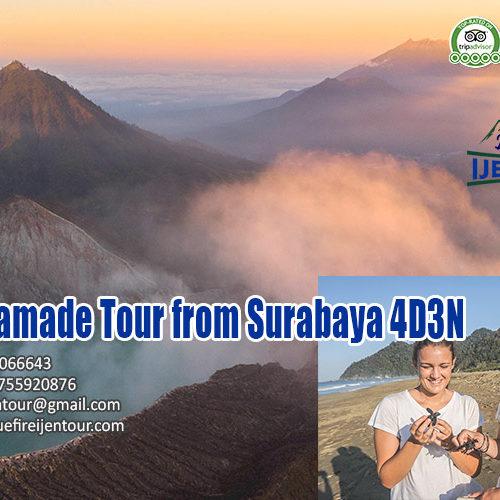 Ijen Sukamade Tour from Surabaya 4D3N