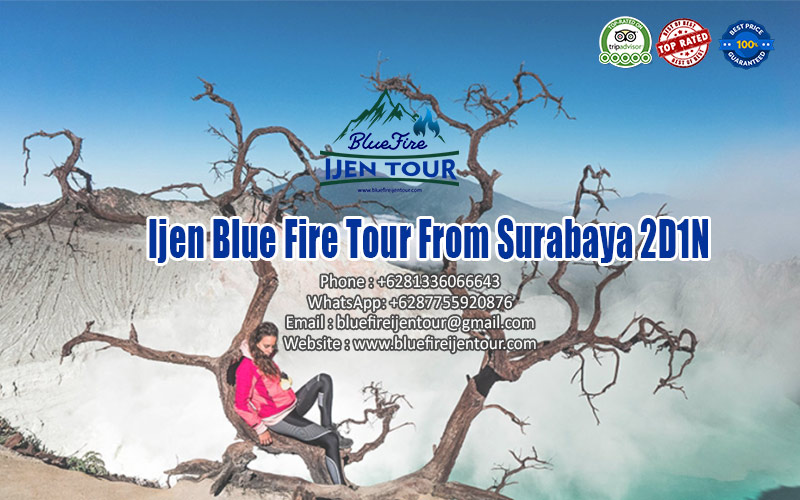 Ijen tour from Surabaya 2D1N, Blue Fire Ijen Tour Package