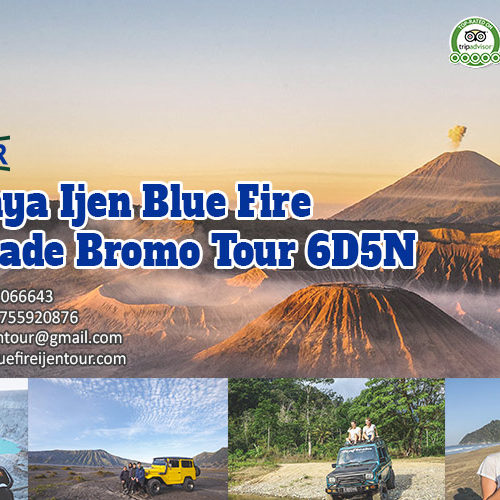Surabaya Ijen Blue Fire Sukamade Bromo Tour 6D5N