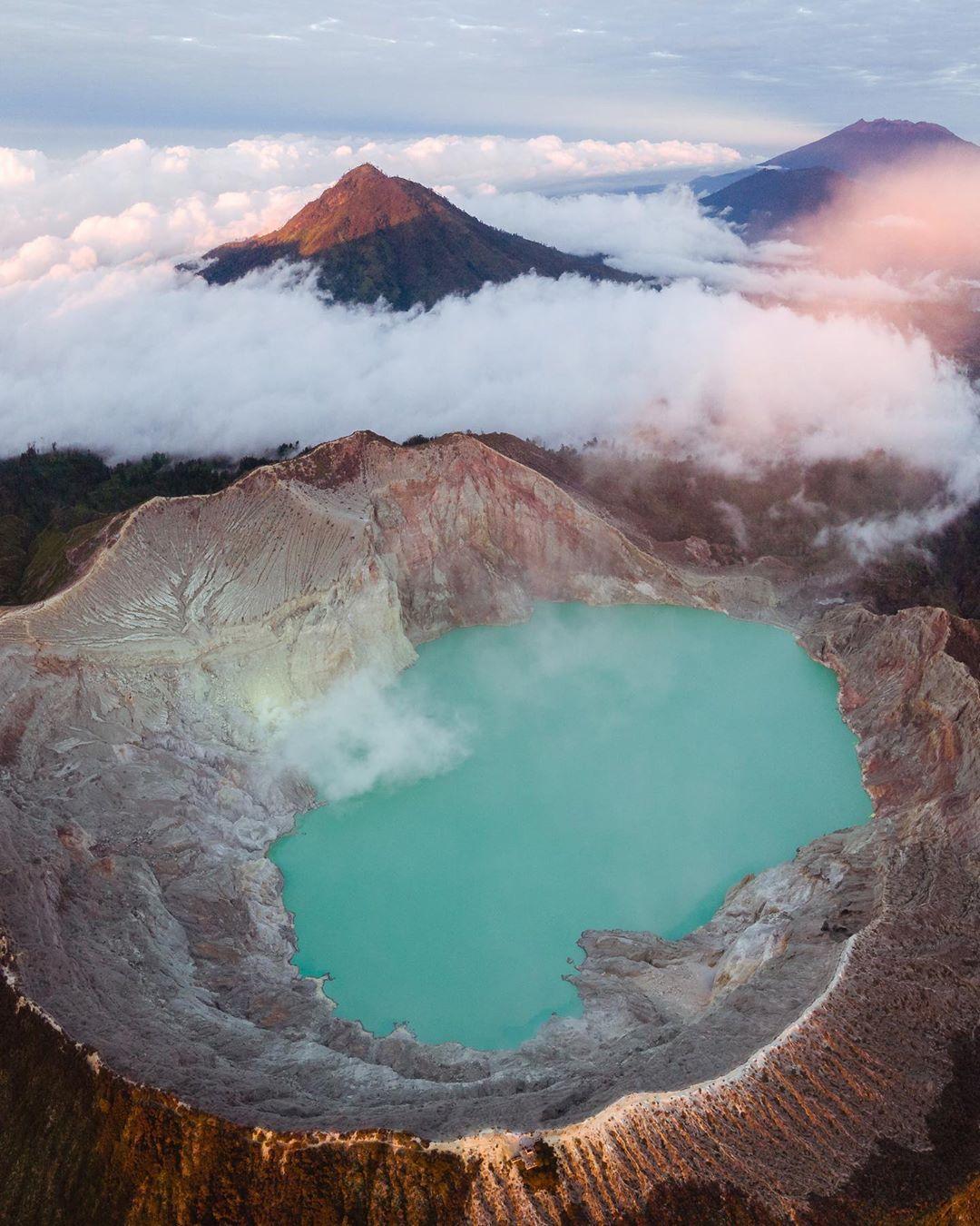 ijen crater, kawah ijen from bali
