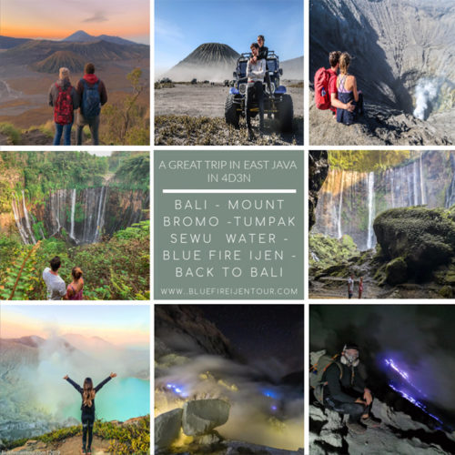 Bromo Ijen Tumpak Sewu Waterfall From Bali 4D3N