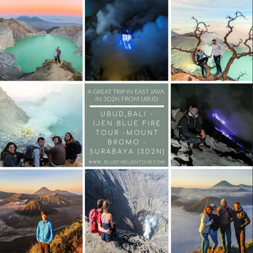 Ijen Blue Fire Bromo Tour From Ubud Bali 3D2N